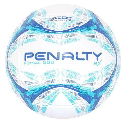 Bola de Futsal Penalty 500  RX - Branco  - REAL ESPORTE
