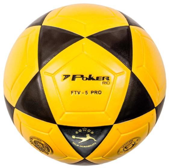 Bola de FutVolei Poker  Rio FTV 5 Pro - Amarelo  - REAL ESPORTE