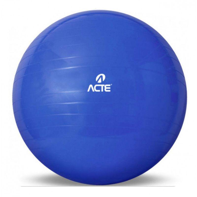 Bola de Pilates Ginastica Acte Gym Ball Tam: 65cm - Azul  - REAL ESPORTE