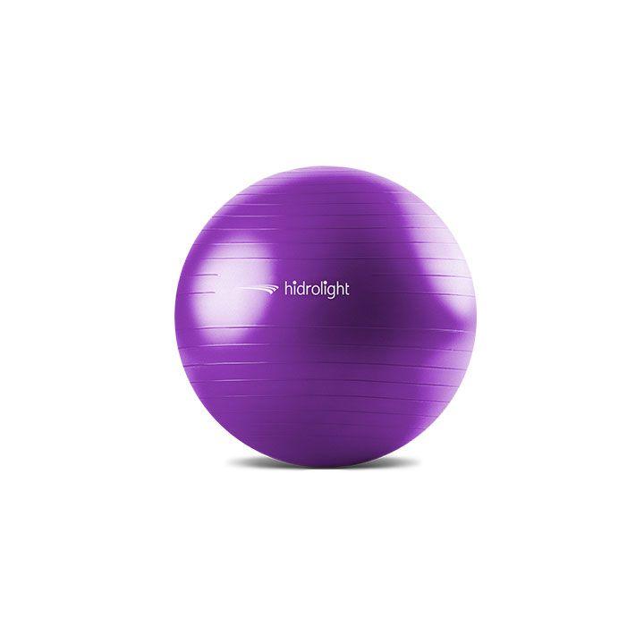 Bola de Pilates Ginastica Hidrolight 65 cm - Roxa  - REAL ESPORTE