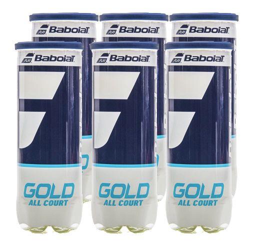 Bola de Tênis Babolat Gold C/ 6 tubos   - REAL ESPORTE