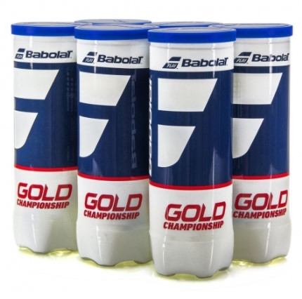 Bola de Tenis Babolat Gold Championship -  Pack c/ 6 tubos  - REAL ESPORTE