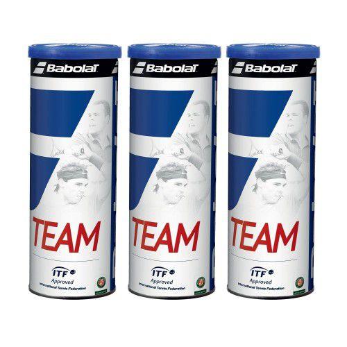 Bola de Tênis Babolat Team pack com 3 Tubos  - REAL ESPORTE