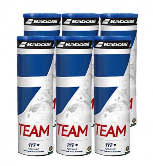 Bola de Tênis Babolat Team pack com 6 Tubos  - REAL ESPORTE