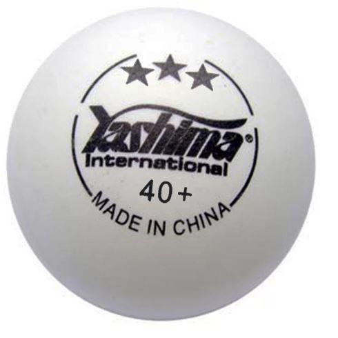 Bola de Tênis de Mesa Yashima 3 Estrela - Branca  - REAL ESPORTE