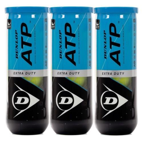 Bola de Tênis Dunlop  ATP Extra Duty C/ 3 Tubos  - REAL ESPORTE