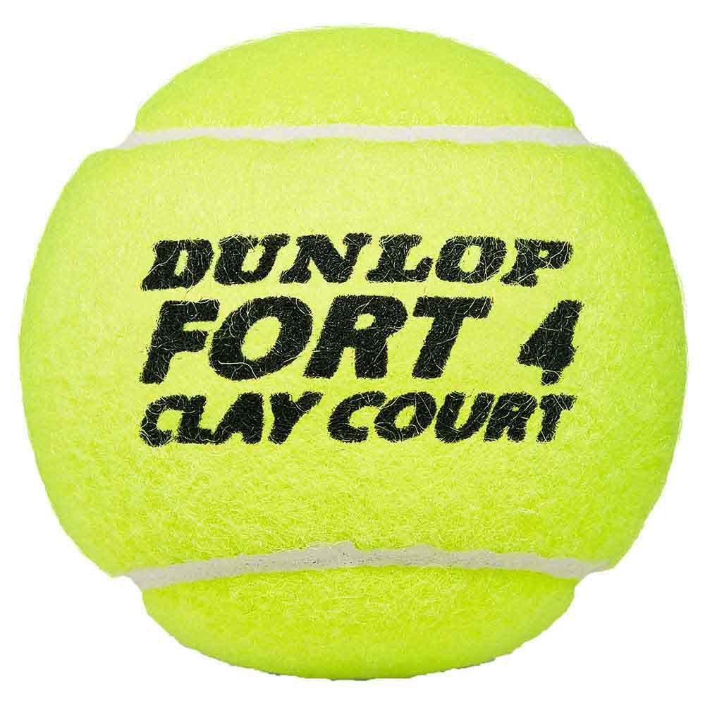 Bola de Tênis Dunlop Fort Clay Court- Tubo c/ 4 Bolas  - REAL ESPORTE
