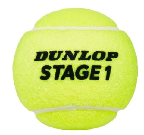 Bola de tênis Dunlop Mini Green Estagio 1 Tubo C/ 3 Bolas  - REAL ESPORTE