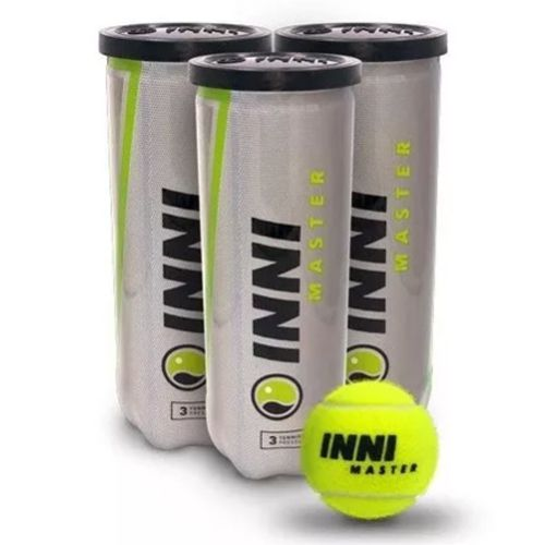 Bola de Tênis Inni Master - Pack C/ 3 Tubos  - REAL ESPORTE