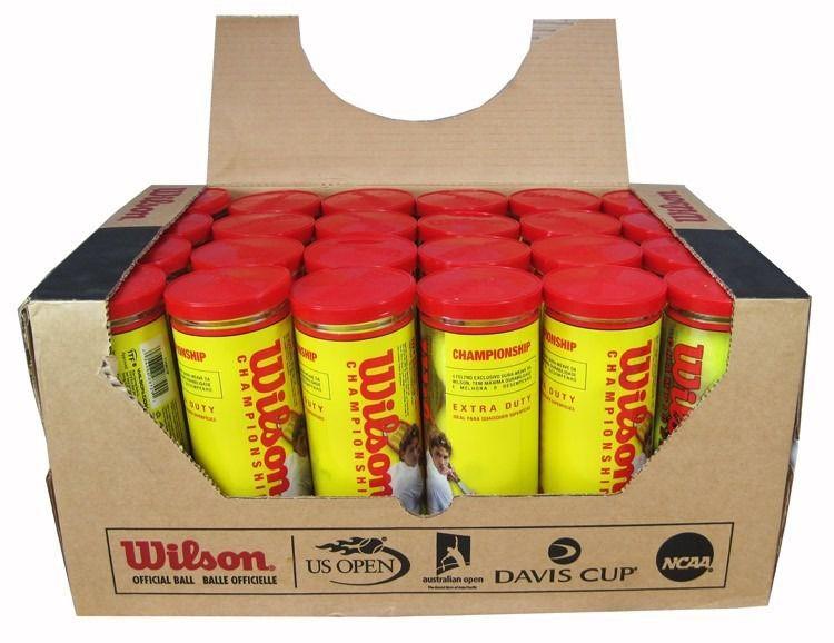 db3b6a027 Bola de Tênis Wilson Championship Caixa com 24 Tubos - REAL ESPORTE