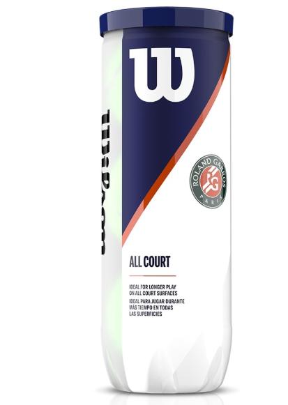 Bola de Tênis Wilson Roland Garros  All Court   - REAL ESPORTE