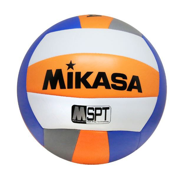 Bola de Vôlei de Praia Mikasa VXS-BMD Padrão FIVB Laranja e Azul   - REAL ESPORTE