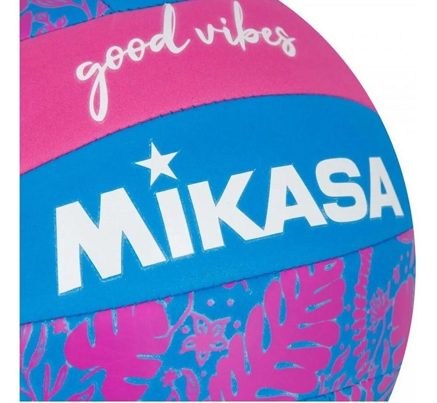 Bola de Vôlei Mikasa Good Vibes Rosa e Azul  - REAL ESPORTE