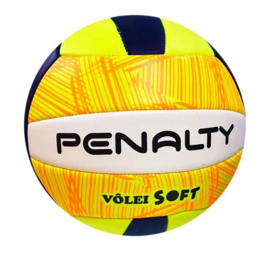 Bola de Vôlei Penalty  Soft - Azul/Laranja  - REAL ESPORTE