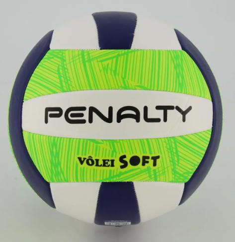 Bola de Vôlei Penalty  Soft - Azul/Verde  - REAL ESPORTE