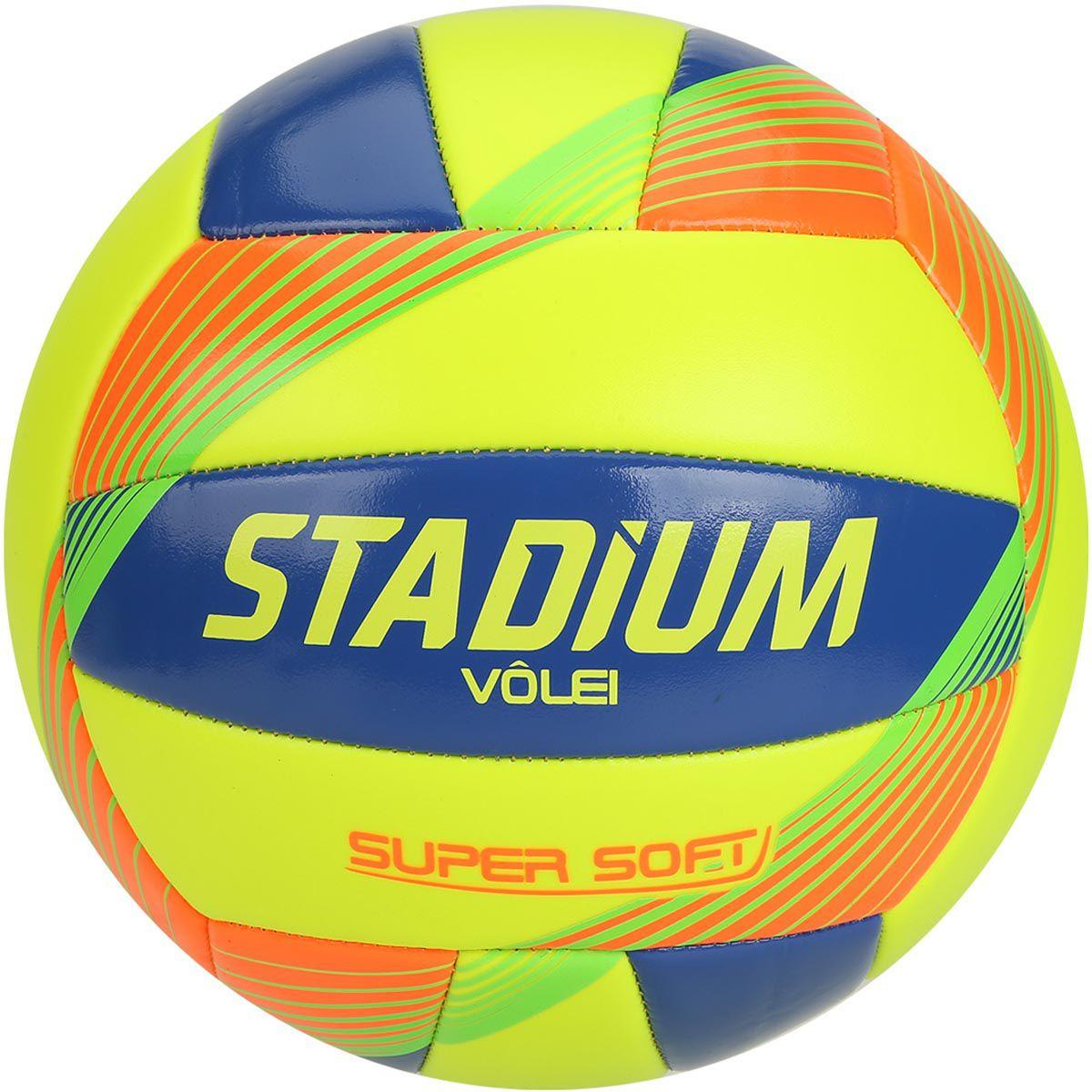 Bola de Volei Stadium Super Soft - Verde  - REAL ESPORTE
