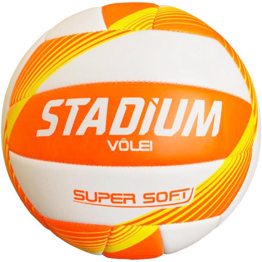 Bola de Volei Stadium Super Soft - Laranja  - REAL ESPORTE