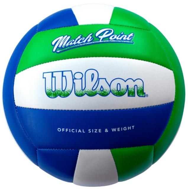 Bola de Volei Wilson Mateh Point -  VerdeAzul  - REAL ESPORTE