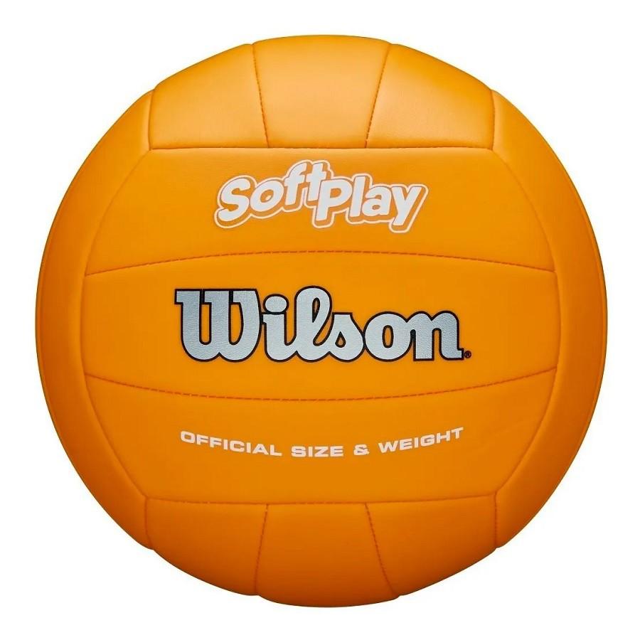 Bola de Vôlei Wilson Soft Play Oficial Laranja  - REAL ESPORTE