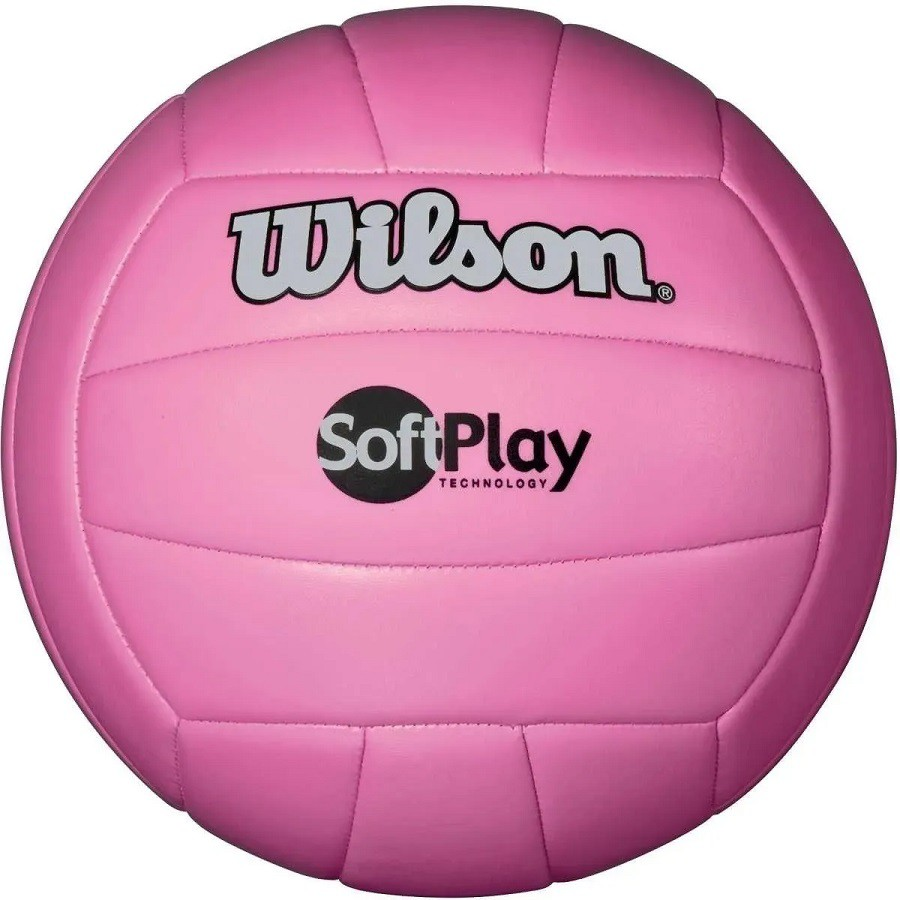 Bola de Vôlei Wilson Soft Play Oficial Rosa  - REAL ESPORTE
