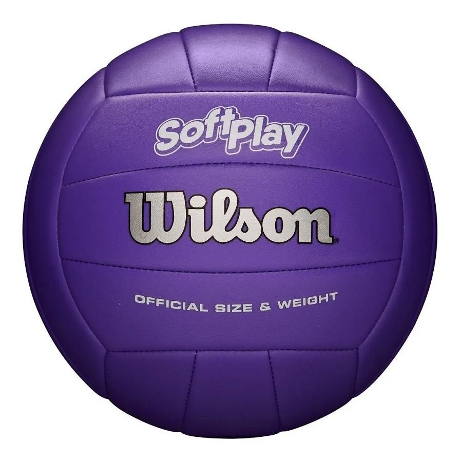Bola de Vôlei Wilson Soft Play Oficial Roxo  - REAL ESPORTE