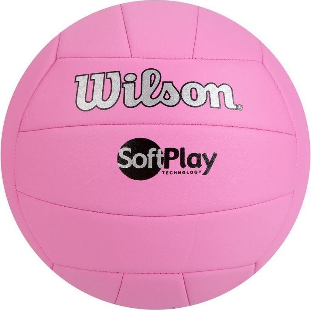 Bola de Volei Wilson Soft Play Rosa  - REAL ESPORTE