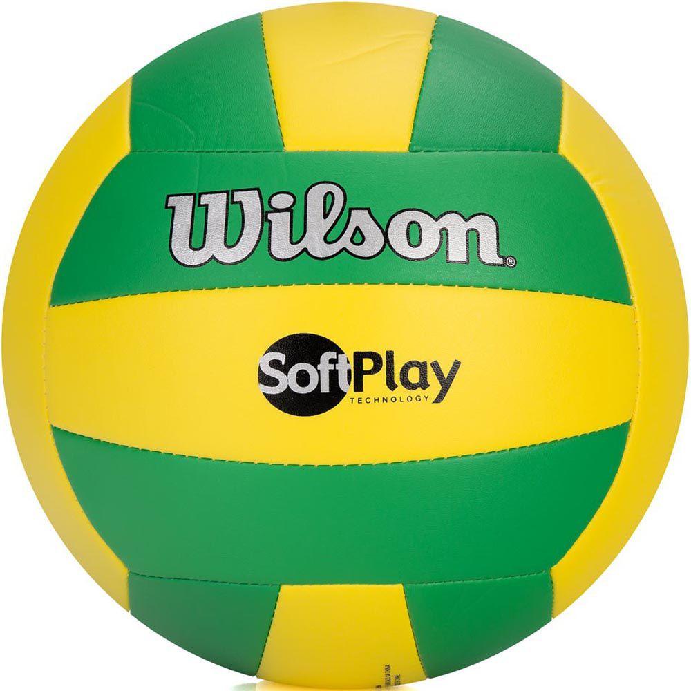 Bola de Volei Wilson Soft Play Verde e Amarela  - REAL ESPORTE