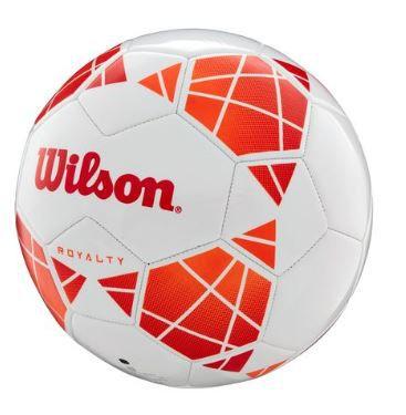 Bola de Futebol de  Campo Wilson Royalty - Branco e Laranja  - REAL ESPORTE