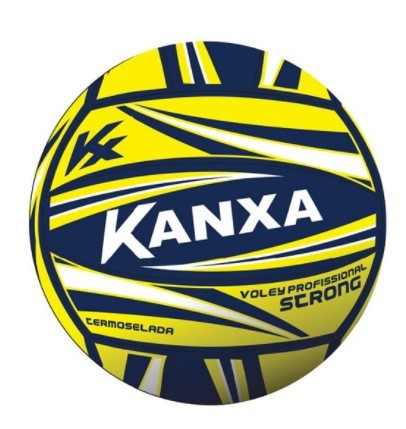 Bola Kanxa de Voley Profissional Strong - Amarelo/Azul  - REAL ESPORTE