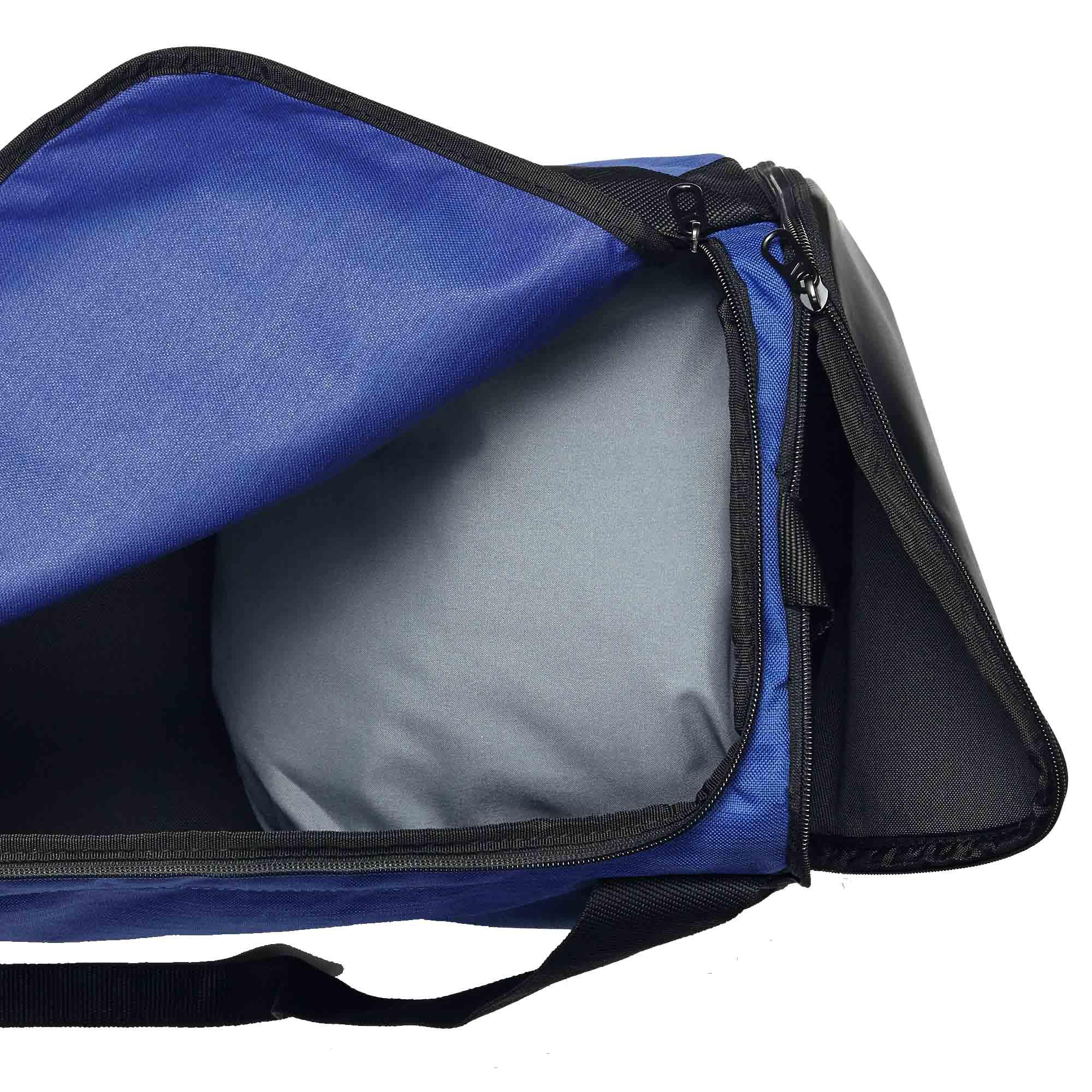 Bolsa Nike Brasilia Duffel Small 40L Azul/Preta  - REAL ESPORTE