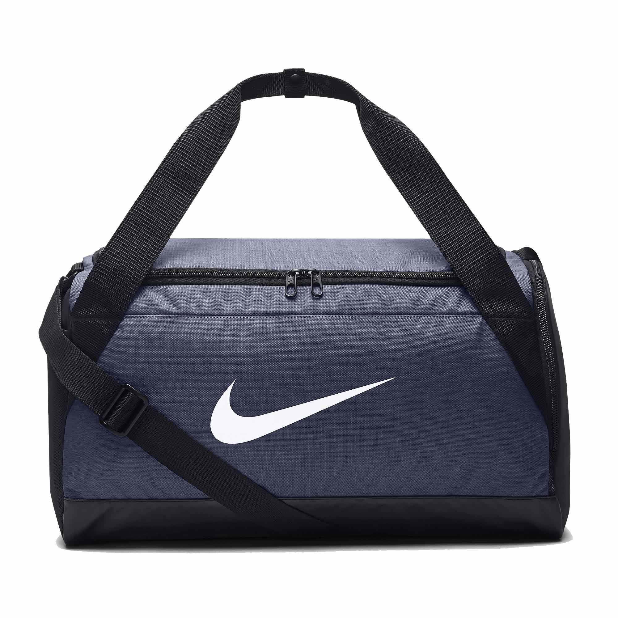 Bolsa Nike Brasilia Duffel Small 40L Azul/Preto  - REAL ESPORTE