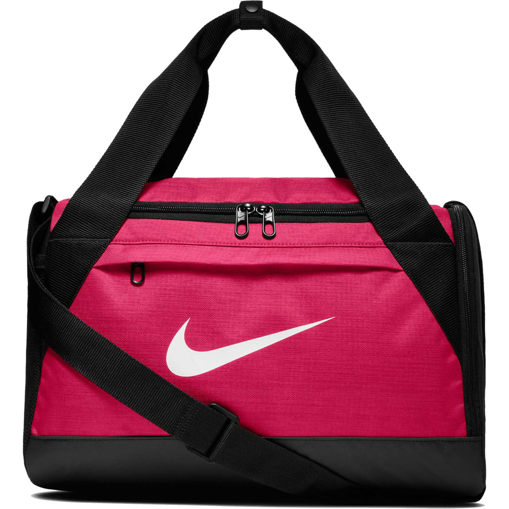 Bolsa Nike Brasilia Duffel Small 25L Rosa/Preta  - REAL ESPORTE