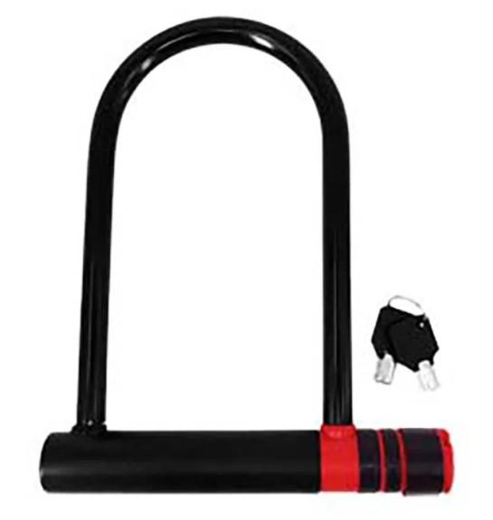 Cadeado Bike 180mm x 240mm Com Chave U-Lock Atrio  - REAL ESPORTE