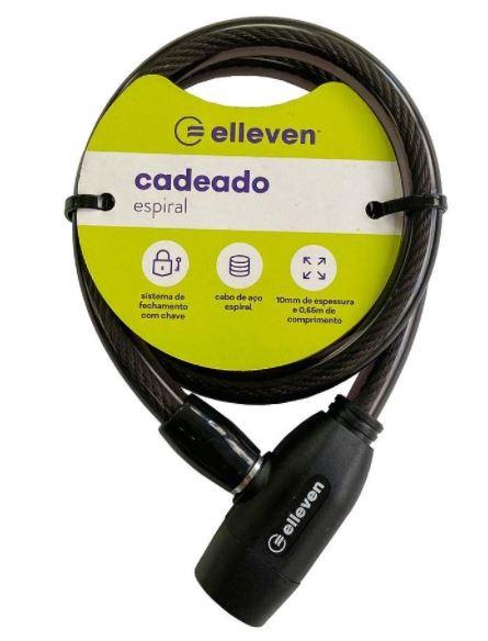Cadeado C/Chave 10X65cm Elleven - Preto  - REAL ESPORTE