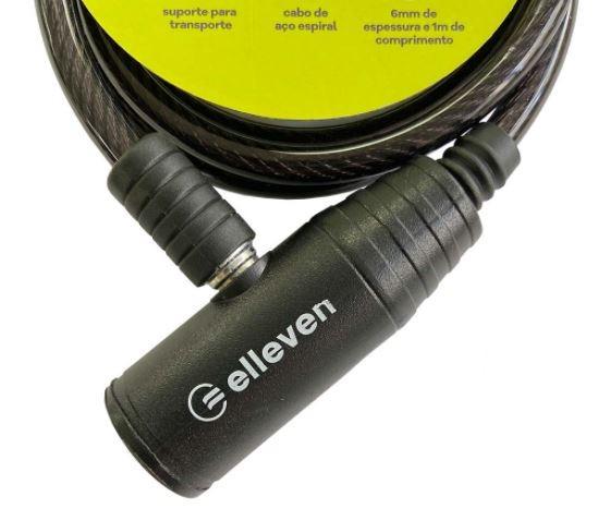 Cadeado Espiral C/Chave 1mx6mm Elleven - Preto  - REAL ESPORTE