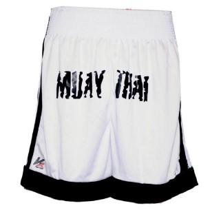 Calção Fighters P/ Muay Thai/MMA Kanxa - Preto/Branco  - REAL ESPORTE