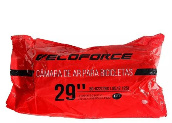 Camara De Ar Bike Aro 29 - Bico Grosso  29x1.95/2.125 Veloforce  - REAL ESPORTE