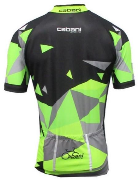 Camisa de Ciclismo Cabani Aritima - Preto/Verde (Manga Curta)   - REAL ESPORTE