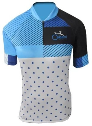 Camisa de Ciclismo Cabani Candy - Azul (Manga Curta)  - REAL ESPORTE