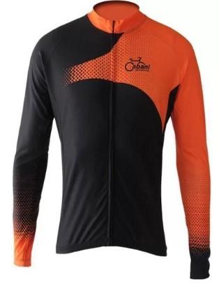 Camisa de Ciclismo Cabani Sprint - Laranja (Manga Longa)  - REAL ESPORTE