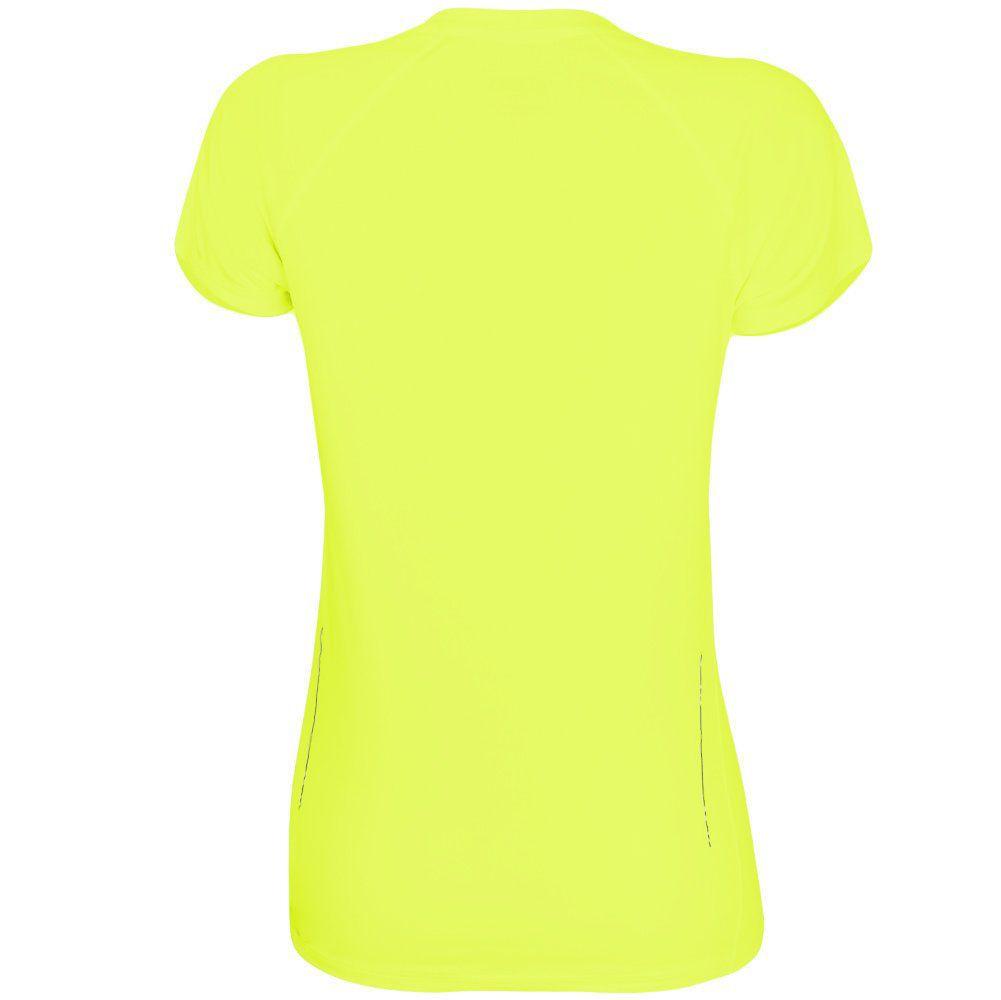 Camiseta Asics Feminina Core Pes SS Tee - Amarela  - REAL ESPORTE