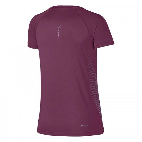 Camiseta Nike Feminina Dry Miler - Vinho  - REAL ESPORTE