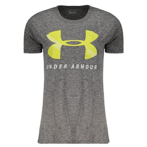 Camiseta Under Armour Tech Graphic Feminina Cinza  - REAL ESPORTE