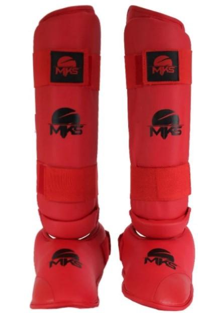 Caneleira Mks Protetor de Pé - Vermelho  - REAL ESPORTE