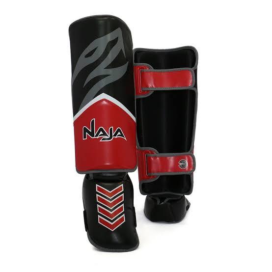 Caneleira Muay Thai Naja New Extreme Vermelha  - REAL ESPORTE