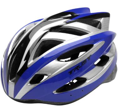 Capacete Ciclismo Bike Trust - Preto/Azul  - REAL ESPORTE