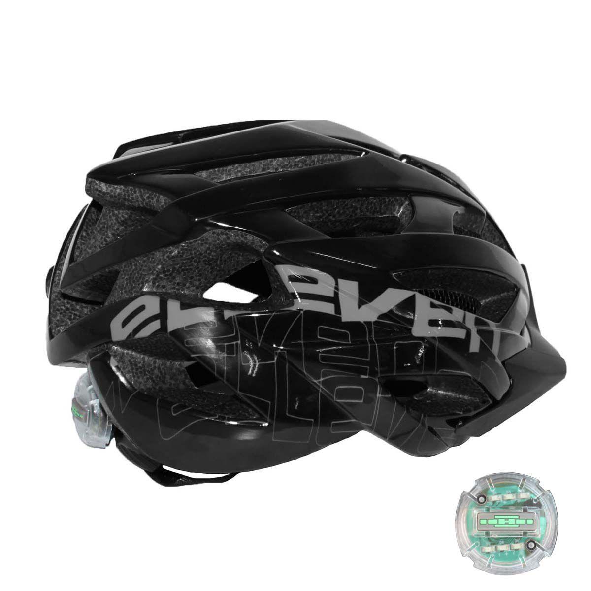 Capacete Ciclismo Bike Elleven - Preto   - REAL ESPORTE