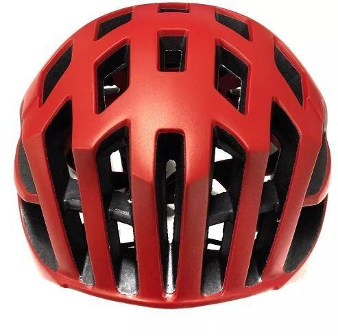 Capacete Ciclismo Bike First - Vermelho  - REAL ESPORTE