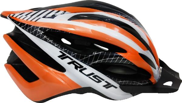 Capacete Ciclismo Bike Trust - Preto e Laranja  - REAL ESPORTE
