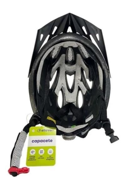 Capacete Ciclismo Elleven 54 ao 57 Preto/Lilás   - REAL ESPORTE